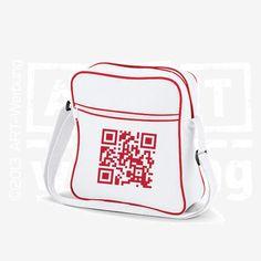 Retro Flight Bag white/classic red von Jajis-ART auf DaWanda.com