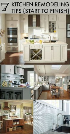 7 Kitchen Remodeling Tips. Great tips if you're thinking about a kitchen remodel. Beautiful inspiration pics.