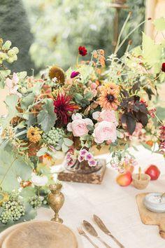 Fall Secret Garden Wedding Inspiration   Fall Wedding Centerpiece