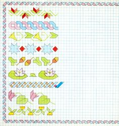 Cornicette+per+bambini+a+quadretti+varie - Cornicetta+per+bambini+a+quadretti+colorata+con+le+matite.+