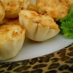 Shrimp Scampi Cheesecake Appetizer - with puff pastry shells