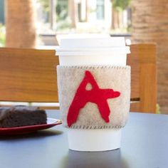DIY cup cozy. #crafts #drinksleeve (Photo by: Disney Spoonful)