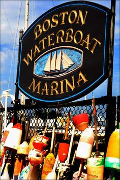 2012 Long Wharf is the Boston Waterboat Marina, just steps from the Marriott Hotel. I was intrigued by all of the colorful buoys strung about! A little-known fact: You'll find harbor-related art in the 2nd floor lobby of the Marriott Long Wharf Hotel.