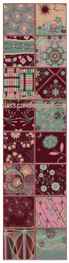 Coral Candie Pattern Set  xoxo