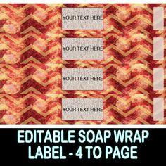 VINTAGE CHEVRON SOAP Wrap Label  Lotion Labels  by OntheDownlowd