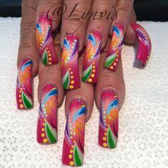 Nail Art Long Nails Crazy Nail Art, Long Nail Art, Crazy Nails, Fancy Nails, Long Nails, Pretty Nails, Crazy Nail Designs, Diy Nail Designs, Beautiful Nail Designs