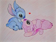 stitches+girlfriend | Stitch and Angel Drawing from Dee / Flickr - Photo Sharing!