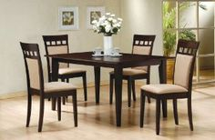 Amazon.com: 5-Piece Dining Set in Rich Cappuccino - Coaster: Home & Kitchen