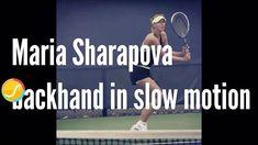Pay close attention to #Sharapova's two-handed backhand! ⠀ #etennisleague #slowmo #MariaSharapova #backhand #Sharapova #tennis