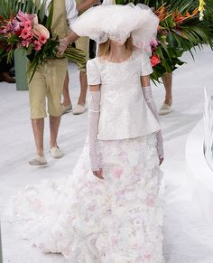 ????Your Guide to Spring 2015 Couture Fashion Week - The Flower Bride at the Chanel Couture Show from #InStyle