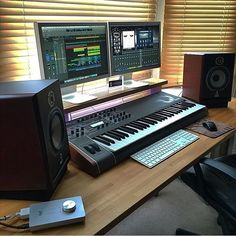 Getting Started With Music Production: Home Studio Equipment List Home Recording Studio Setup, Home Studio Setup, Music Studio Room, Studio Ideas, Ableton Live, Home Studio Equipment, Studio Furniture, Furniture Plans, Home Music Rooms
