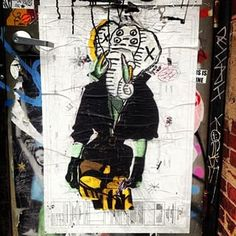 Instagram photo by street_art - #bast #wheatpaste in #williamsburg on #Wythe & #N3rd #brooklyn #nyc #streetart #bastothegreat