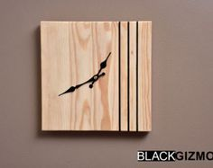 Wooden Wall Clock WC006 от blackgizmo на Etsy