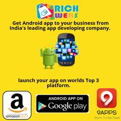 Rich webs are award-winning Android app development company in India which customer satisfaction to business clients looking for quality services with a promise of reliability. Web Seo, Best Digital Marketing Company, App Development Companies, Web Magazine, Seo Company, Best Web, Android Apps, Mobile App, Web Design