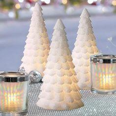"Snowy Tree - 9"" Light Illusions™ LED"