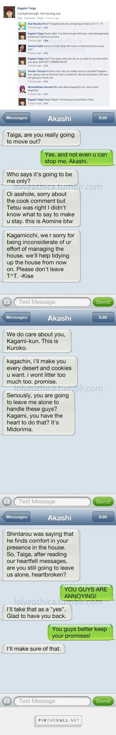 Kinda future-ish AU where Gom and Kagami are roomies.