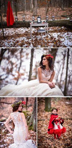 Snow White Themed Wedding Photo Shoot @ Willow Lake Farms  from Wedding Paper Divas/Blog With Love #snowwhitewedding