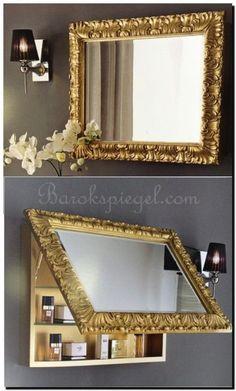 Heeft u een kleine badkamer maar wilt u wel een mooie barok spiegel en een kastje voor uw spullen?  Denk dan is aan een mooie spiegelkast.