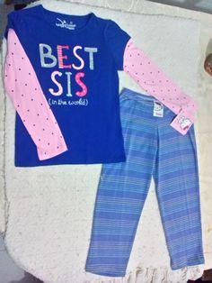 Conjunto nuevo para nena de blusa manga larga y mallón,  talla 4-6 años,  100% algodón, aplicaciones en blusa de brillitos. $150MX