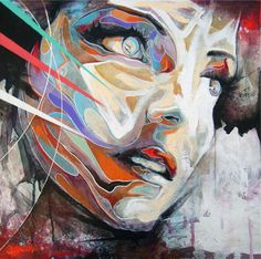 Without hope there is nothing - Abstract Portrait Paintings by Danny O'Connor | Cuded