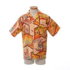 Vintage 70s Barefoot In Paradise Hawaiian Camp Shirt 1970s