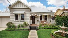 Property data for 241 Union Road, Surrey Hills, Vic View sold price history for this house and research neighbouring property values in Surrey Hills, Vic 3127 House Exterior, Weatherboard House, House Painting, Edwardian House, House Colors, Cottage Exterior, California Bungalow, Heritage House, Weatherboard Exterior