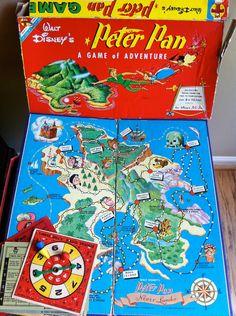 Walt+Disney+Peter+Pan+Board+Game+1953+by+JunkyardGenes+on+Etsy,+$12.00