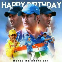 Happy Birthday MS Dhoni: India's most successful captain cool turns 38 India Cricket Team, World Cricket, Cricket Sport, Ms Doni, Best Birthday Images, Dhoni Quotes, Ms Dhoni Wallpapers, Ms Dhoni Photos, Shikhar Dhawan