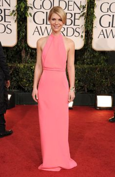 CLAIRE DANES AT THE GOLDEN GLOBE AWARDS, 2011 In Calvin Klein.