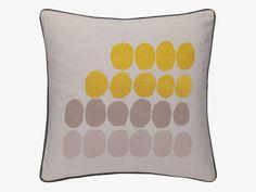 Habitat Mila grey and yellow embroidered cushion £25