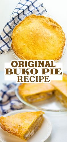 Try this amazing and delicious Buko Pie made with young coconut meat and creamy-custard filling! It's a Filipino dessert that tastes so good! Buko Pie, Pie Crust Dough, How To Make Pie, Custard Filling, Sugar Eggs, Filipino Desserts, Egg Wash, Non Stick Pan, Pie Recipes