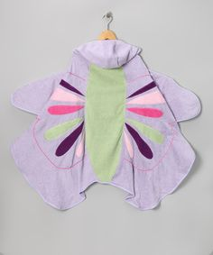 {Butterfly Hooded Towel} Girls would love this for swimming...