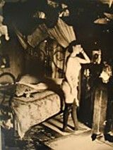 Penny for your thoughts; the pensive nature of Storyville Prostitute Standing by a Bentwood Bed in an Eccentrically Appointed Bedroom is but...