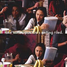 Take cover, Patricia's got the pitcher of some kind of bevarage. House Of Anubis, Every Witch Way, Fan Girl, Great Books, Film, Hunger Games, Stranger Things, Art Reference, Supernatural