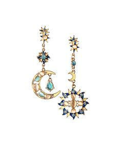 Another great find on #zulily! Goldtone Moon & Stars Drop Earrings #zulilyfinds