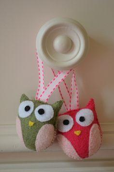 Owl Baby Girl Room  - felt owls