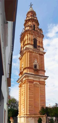Dibujo vestorizado de la torre dela desaparecida iglesia de Ntra. Sra. de la Victoria de Estepa
