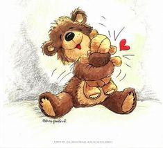 Hug, Teddy Bear, Toys, Animals, Bears, Cartoons, Amor, Drawings, Friendship