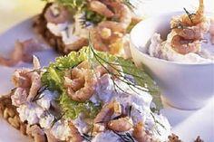 Das Rezept für Vollkornbrot mit Krabben +Dill mit allen nötigen Zutaten und der einfachsten Zubereitung - gesund kochen mit FIT FOR FUN