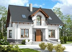 Dom Dla Ciebie 5 bez garażu [B] - zdjęcie 5 Cottage Plan, Design Case, Home Fashion, House Plans, New Homes, Home And Garden, House Design, Cabin, Mansions