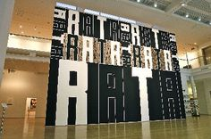 """A large work by Darryn George (Ngapuhi) is now filling the atrium walls at Tauranga Art Gallery. Based on the painting Rata the work is painted directly onto the walls and measures a whopping 707 x 1000 cm. In this work George considered the shared misfortunes of his hometown Christchurch and Tauranga in 2011. He says : """"Rata is a very suitable word to use in relation to the Canterbury earthquakes and the Rena environmental disaster. Both regions need a doctor to heal the land and the… New Zealand Art, Maori Art, Coffee Shop Design, Graphic Design Inspiration, Art Google, American Art, Maui, Contemporary Art, Art Gallery"""