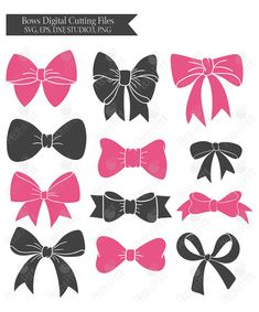 Bow svg cut files for Cricut, Silhouette and other Vinyl Cutting Machines…