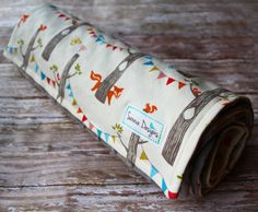 Organic Baby Blanket  Woodland Party by Birch by Saravadesigns, $42.00