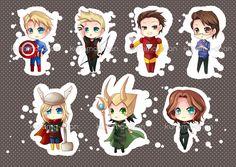 Avengers Chibi Keychain set