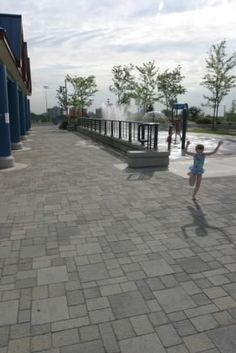 Unilock - Waterpark in Mississauga featuring Il Campo Paver