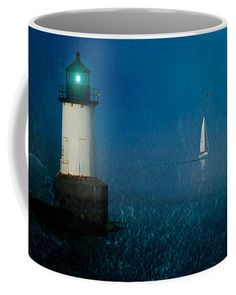 Blue horizon Coffee Mug by Jeff Folger.