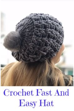 5a21a3e6348 crochet fast and easy hat All Free Crochet