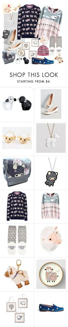 """Counting Sheep"" by krazyk8e ❤ liked on Polyvore featuring Swarovski, Tulchan, Accessorize, Nach, MCM, Sweet Jojo Designs and Stubbs & Wootton"