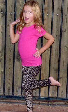 Leopard Fur Lined: Leggings Girls