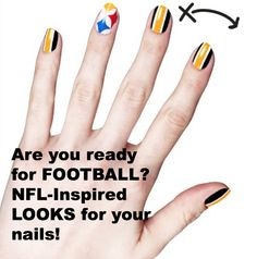 WOOHOO!! Football starts TONIGHT!! Get your nails ready with @Melea Krause Fisher Gibbs http://momgenerations.com/2013/09/girls-guide-to-football-covergirl-and-the-nfl-team-inspired-nail-looks/